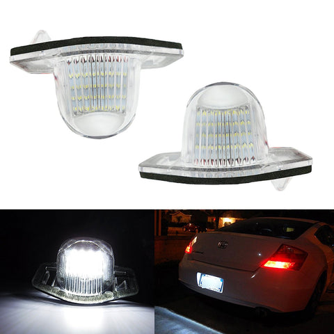 Exact Fit White 18-LED License Plate Light Lamps For Honda Civic Fit CR-V, etc