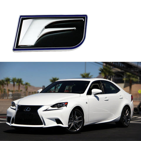 3D Metal F Sport Auto Emblem Body Trunk Lid sticker decal badge for Lexus GS200t IS200t CT200h ES300h ES350 GS F LS600h