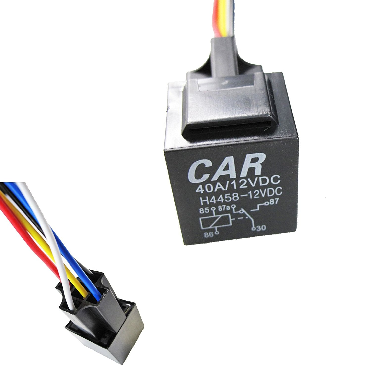 1x 5 Pin 12v 40a Spdt Auto Relay Socket Wire For Car Fog Light Drl Dpdt Wiring