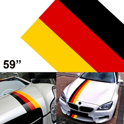 "59"" Stripe Car Sticker For Audi BMW Mercedes MINI Porsche Exterior Cosmetic, Hood, Roof, Bumpers"