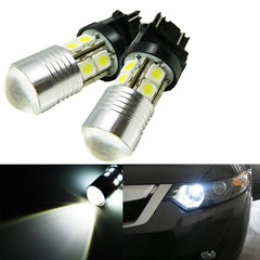 2PCS Xenon White 30W CREE LED DRL Daytime Running Light Bulbs 3156 3157 3757 4114 4157