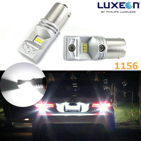 2pcs 100W Luxeon LED Bright White 1156 BAY15S LED Rear Turn Signal Lights, Backup Reverse Light Bulbs