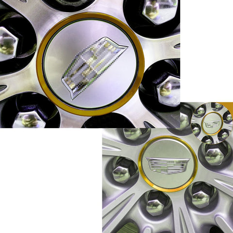 4 Pieces Alloy Car Wheel Rim Center Cap Hub Rings Decoration For Cadillac