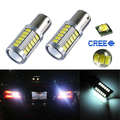 2x White/Amber/Red 1156 BA15S 33-SMD RV Camper Brake Backup Reverse High Power LED Bulb Light …