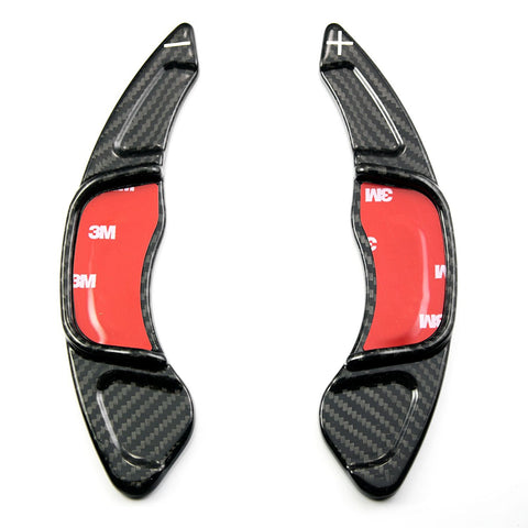 Real Carbon Fiber Steering Wheel Shifter Gear Paddle DSG Extensions For Golf 7 GLI GTS Scirocco
