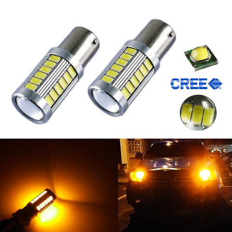 2 x 1156 BA15S 33-SMD Car RV Camper Brake Backup Reverse High Power LED Bulb Light