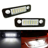 Exact Fit White 18-LED License Plate Light Lamps For Ford Fusion Fiesta Mondeo