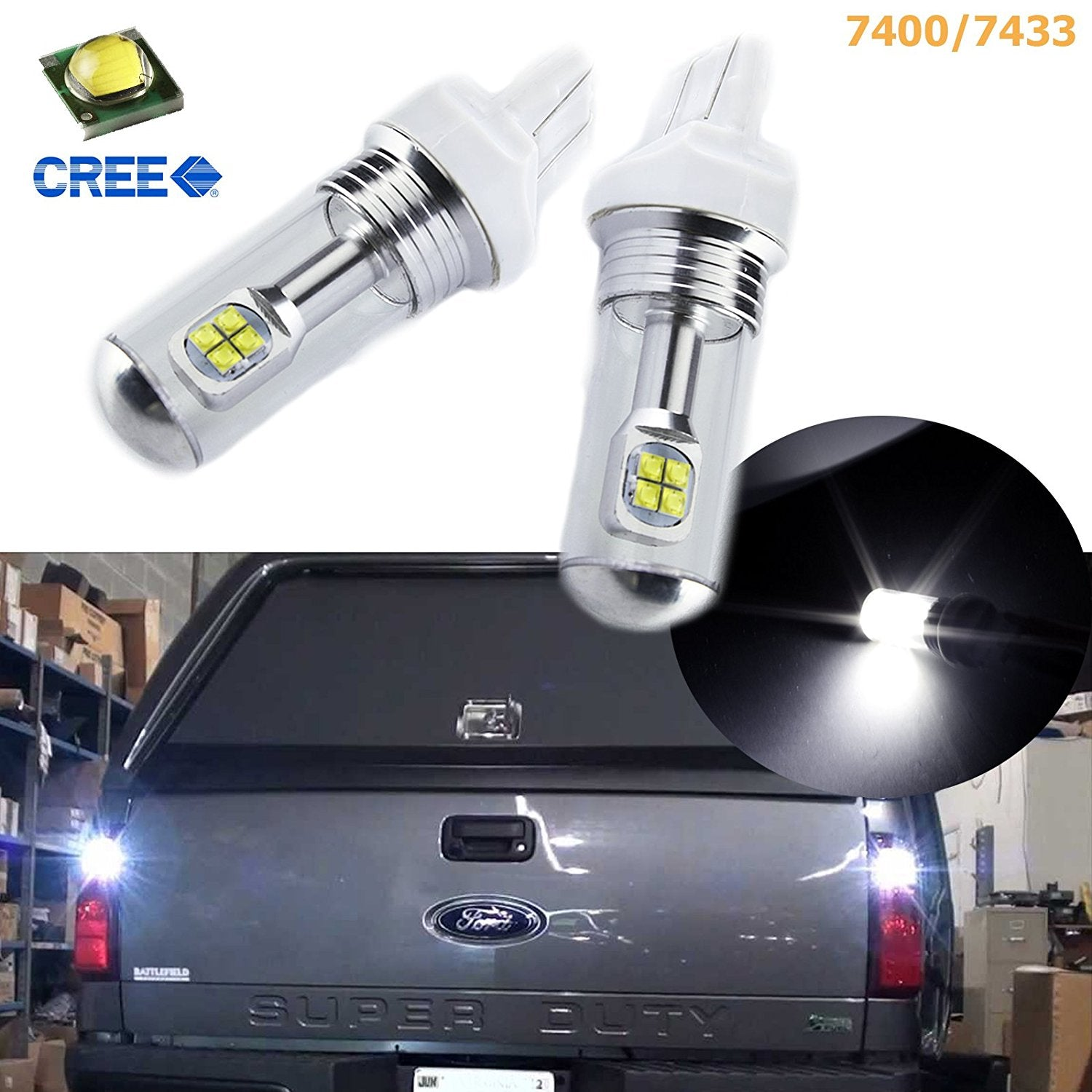 2 80w Cree Led Bright White 7443 7440 Led Turn Signal