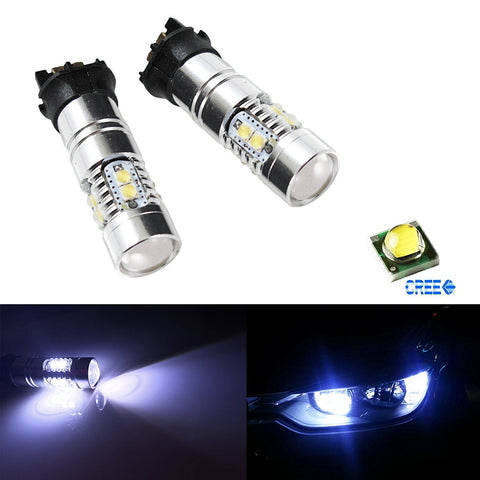 2x 35W Canbus PWY24W LED Bulbs For Audi VW Front Turn Signal Lights, DRL Lamp Day Time Running lights