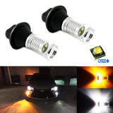 2x Error Free 7440 7441 7443 7444 T20 Switchback CREE LED Lights Conversion Kit For Front Turn Signal Lights or DRL
