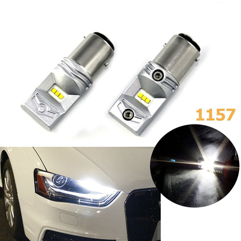 1 pair 100W Luxen LED Bright White 1157 BAY15D LED Brake Backup Reverse Light Bulbs