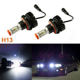 2x White Luxeon 160W Hi/Lo Beams H13 9008 6000K LED Headlights Bulb kit (Newest Model)