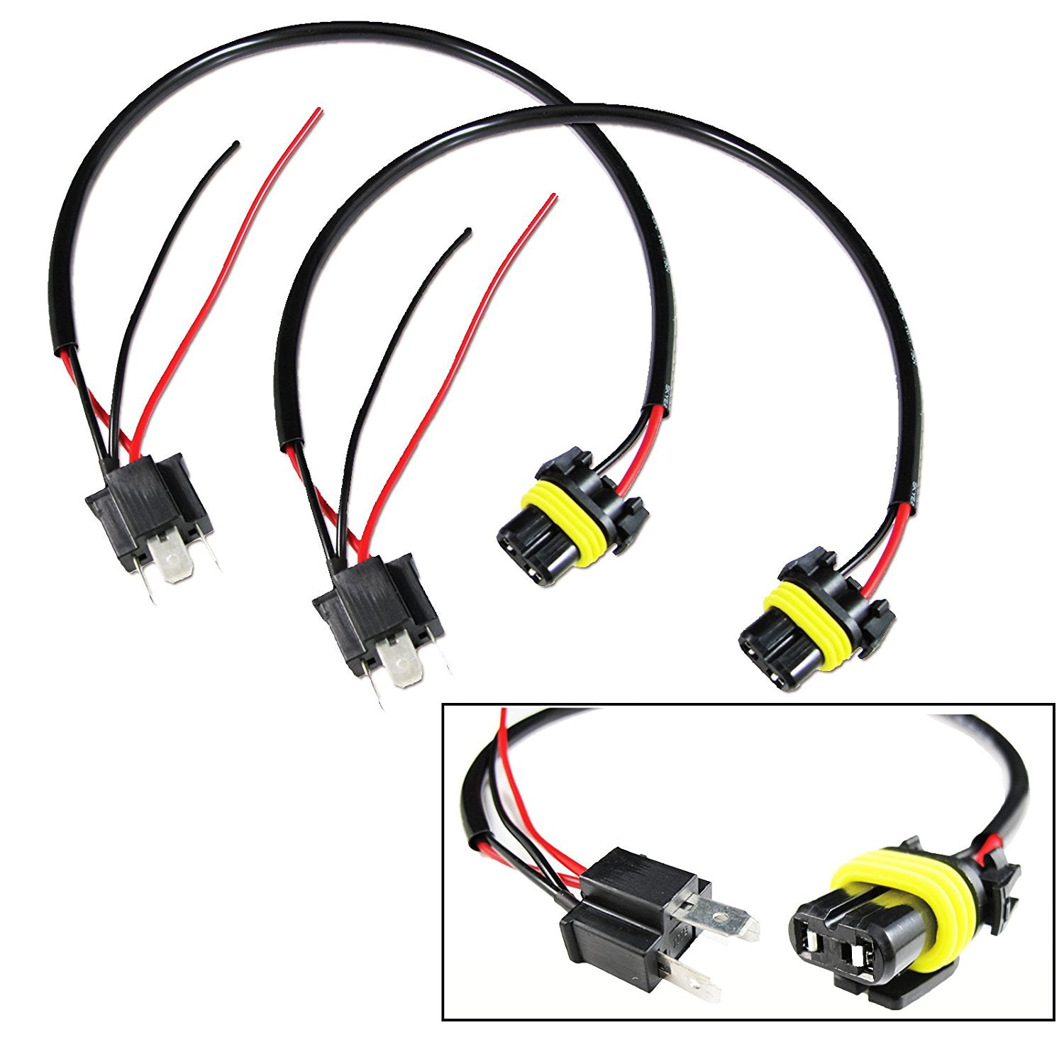 9006 To H4 Conversion Wires Adapters Headlight Retrofit or