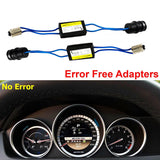 2x BA9 64132 64136 Canbus Error Free Wiring Adapters For LED Parking, Backup Lights, License Plate Lights