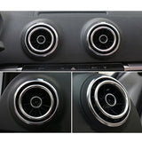 4pcs Chrome Car Auto AC Vent Outlet Decoration Ring Cover Trim for Audi A3 NEW