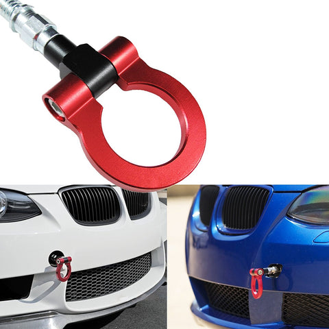 JDM SCREW-ON Red/ Neo Sport Racing Aluminum Front Rear BUMPER Tow Hook For BMW F30 F32 F10 X1 X3 X4 X5 X6, MINI Cooper F55 F56