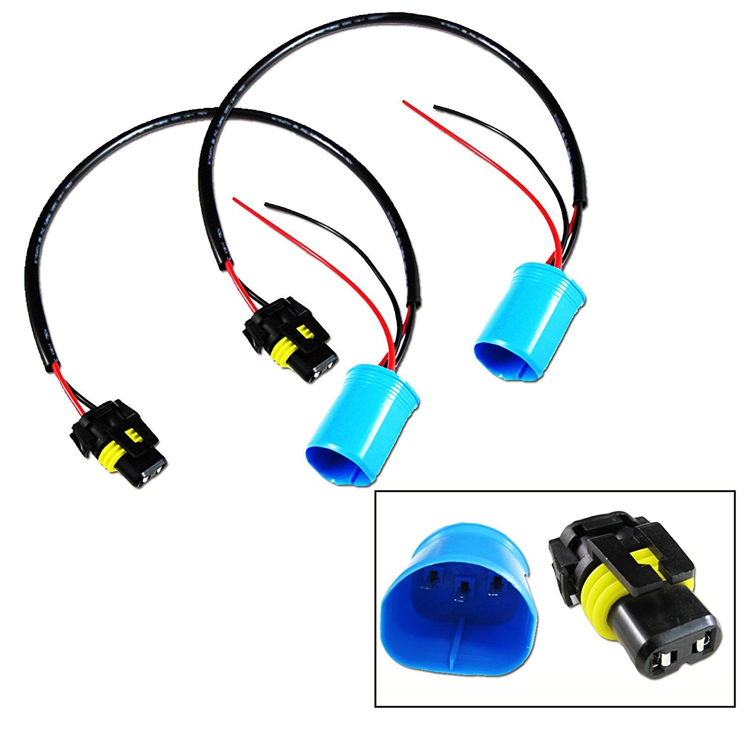 2x 9006 To 9007 Conversion Wires Adapters Headlight Retrofit ... Wiring on