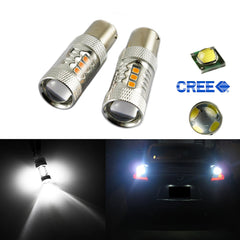 Super Bright 1157 BAY15D 80W LED Bulbs For Car Brake Backup Reverse Turn Signal Parking Light (3 Color)