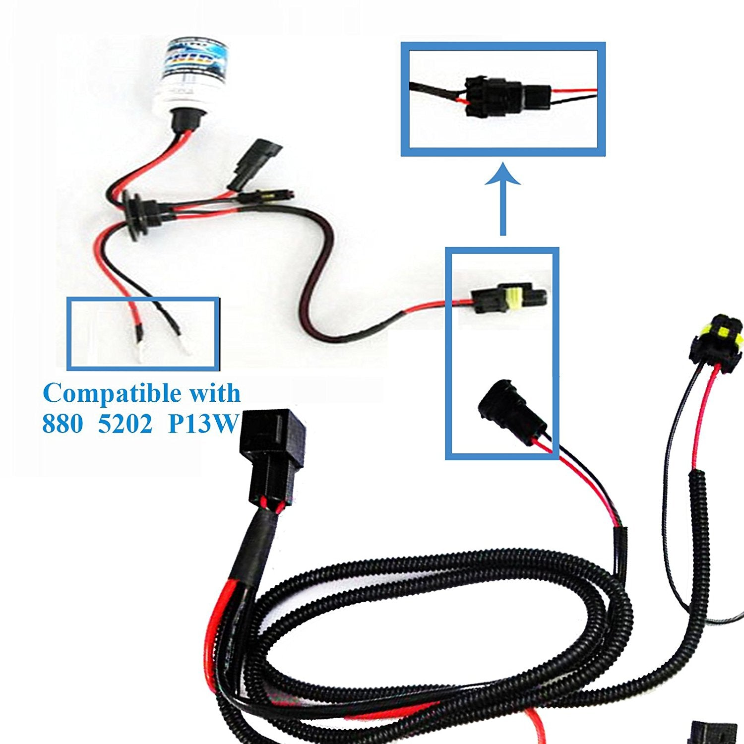 1 set H1 H3 H7 H11 9005 9006 HB4 HID Conversion Kit Relay