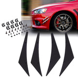 1 Set Bumper Lip Fins Canards Splitters Body Spoiler Sporty JDM Racing Style Diffuser Universal Fit Black or Carbon Fiber Pattern