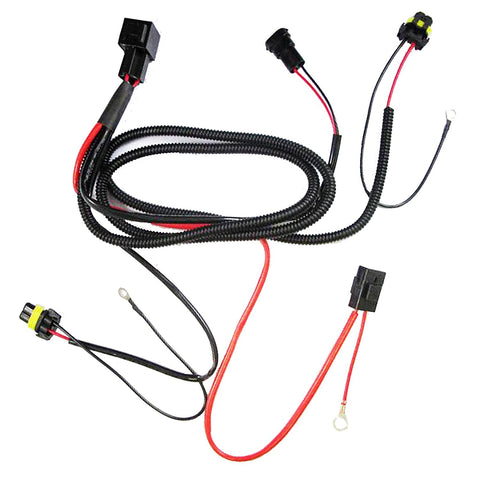 1 set H1 H3 H7 H11 9005 9006 HB4 HID Conversion Kit Relay Wire Harness Adapter Wiring
