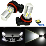 2x Super Bright Xenon White Projector H11 LED Bulbs For Fog Light Driving Lamps