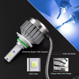 2x 9006 HB4 Ice Blue 8000K COB LED Headlight Bulbs Conversion Kit For High/Low Beam Daytime Running Lights Newest Model