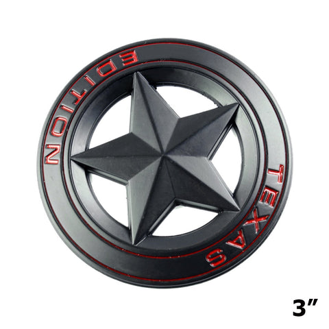 Big Badge Car Fender Trunk Lid Door Grille 3D Texas Edition Emblem Decal for Toyota TundraTacoma, Ford F150, Chevy Silverado, Nissan Titan