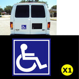 Handicap Wheelchair Disabled Logo Sign Car Window Die-Cut Graphic Vinyl Decals for SUV Truck Car Bumper, Laptop, Wall, Mirror, Motorcycle