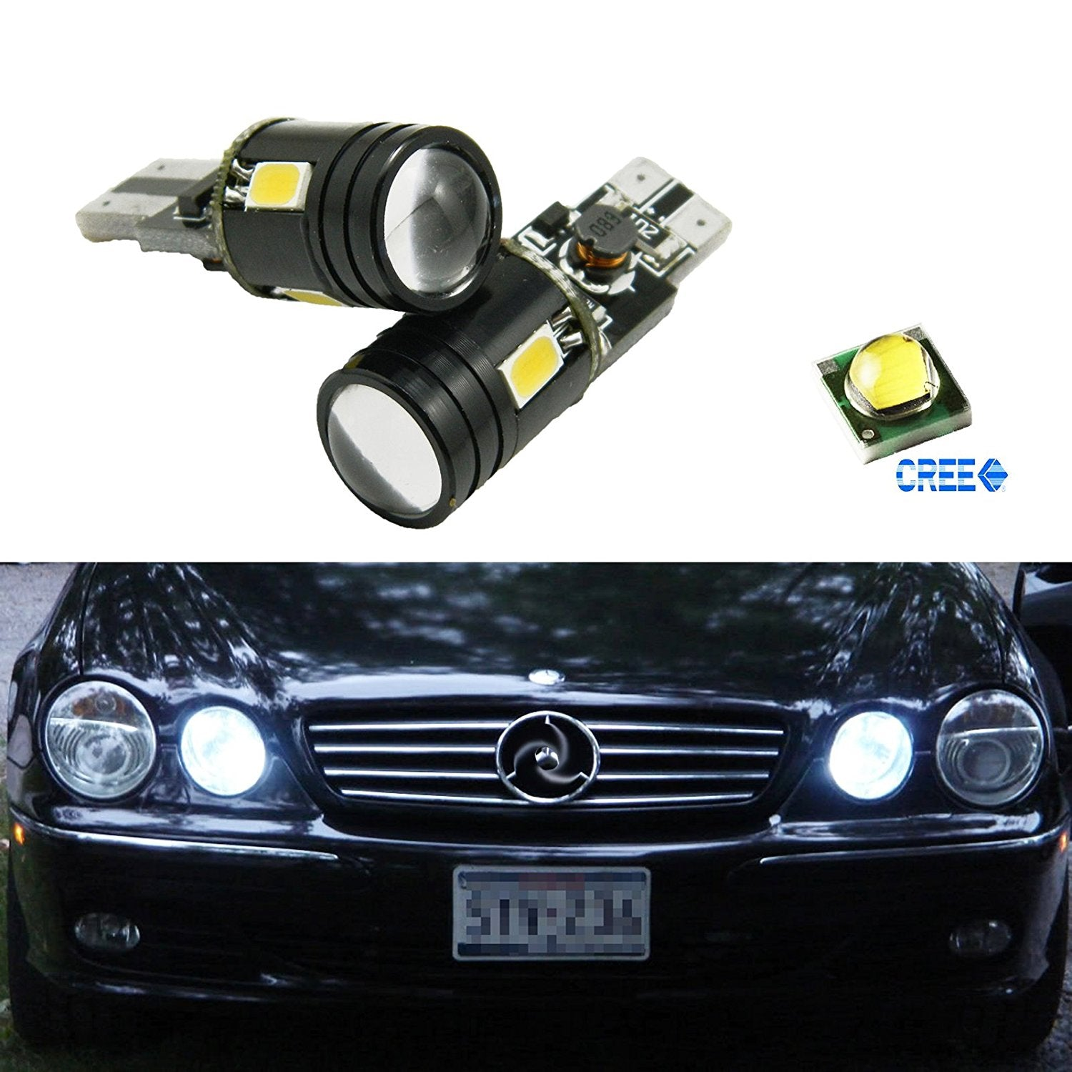White Position Light Power Parking Bulbs 9w Cree Led High 912 Car CBoxdWre
