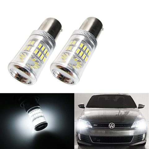 CANbus HID White Reflector LED Bulbs Volkswagen MK6 Jetta Daytime DRL Lights