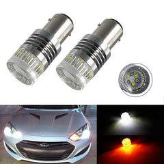 1157 High Power Switchback LED Bulbs Dual Colors White/Amber For Front Turn Signal Lights