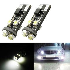 8-SMD Error Free 2825 W5W LED Bulbs For European Cars Parking Lights, Xenon White