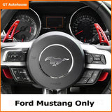 One Set Aluminum Red Steering Wheel DSG Paddle Shifter Direct Fit Ford Mustang 2015 2016 2017