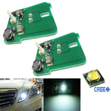 HID Matching Xenon White LED Parking Position Light Assembly For 2010-13 Mercedes W212 E-Class E350 E550 E63 AMG Pre-LCI
