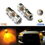 100W CREE 1156 BA15S LED Bulbs Red/Amber for Backup Reverse Lights Bulbs Turn Signal, Backup DRL Lights lamps