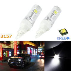 2x Super Bright Xenon White High Power CREE 80W 3156 3157 3157A LED Bulbs DRL Daytime Running Lights Lamps Replacement