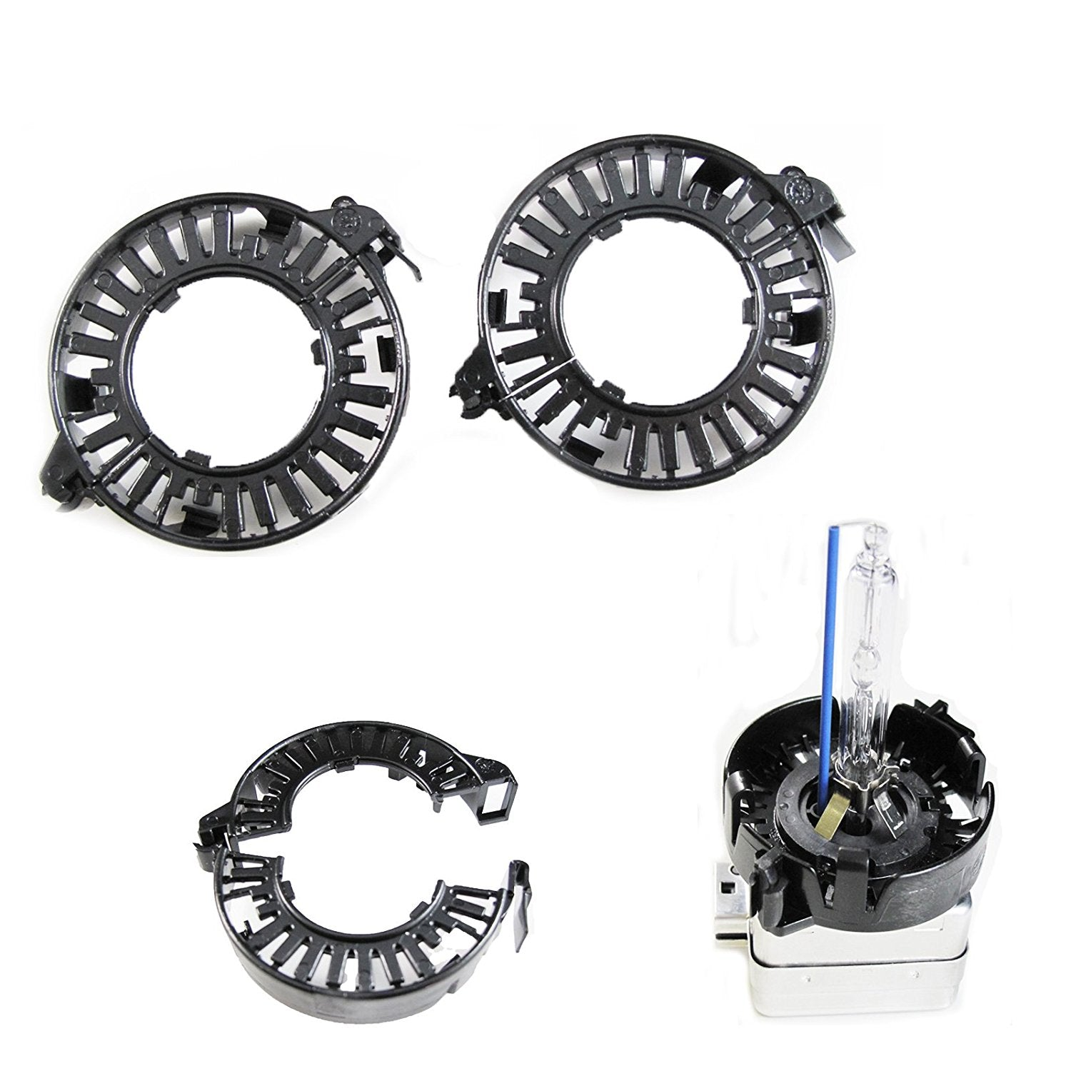 D1S D3S HID Bulbs Holders Clip Rings Retainers Audi BMW