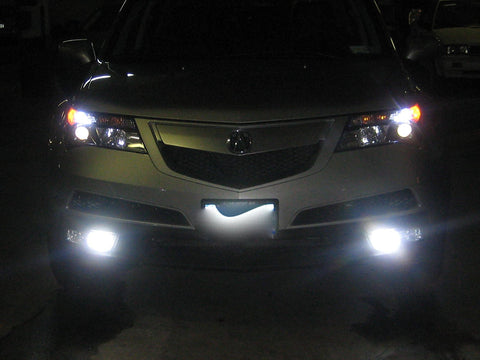 (2) H11 H8 H9 Luxeon LED Bright White LED Bulbs For DRL Daytime Running Light, Fog Light