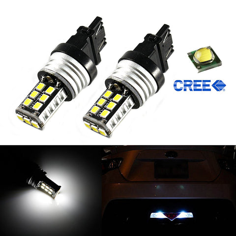 3156 3157 2835 15-SMD Bright White LED Bulbs For Euro Car Backup Reverse Lights