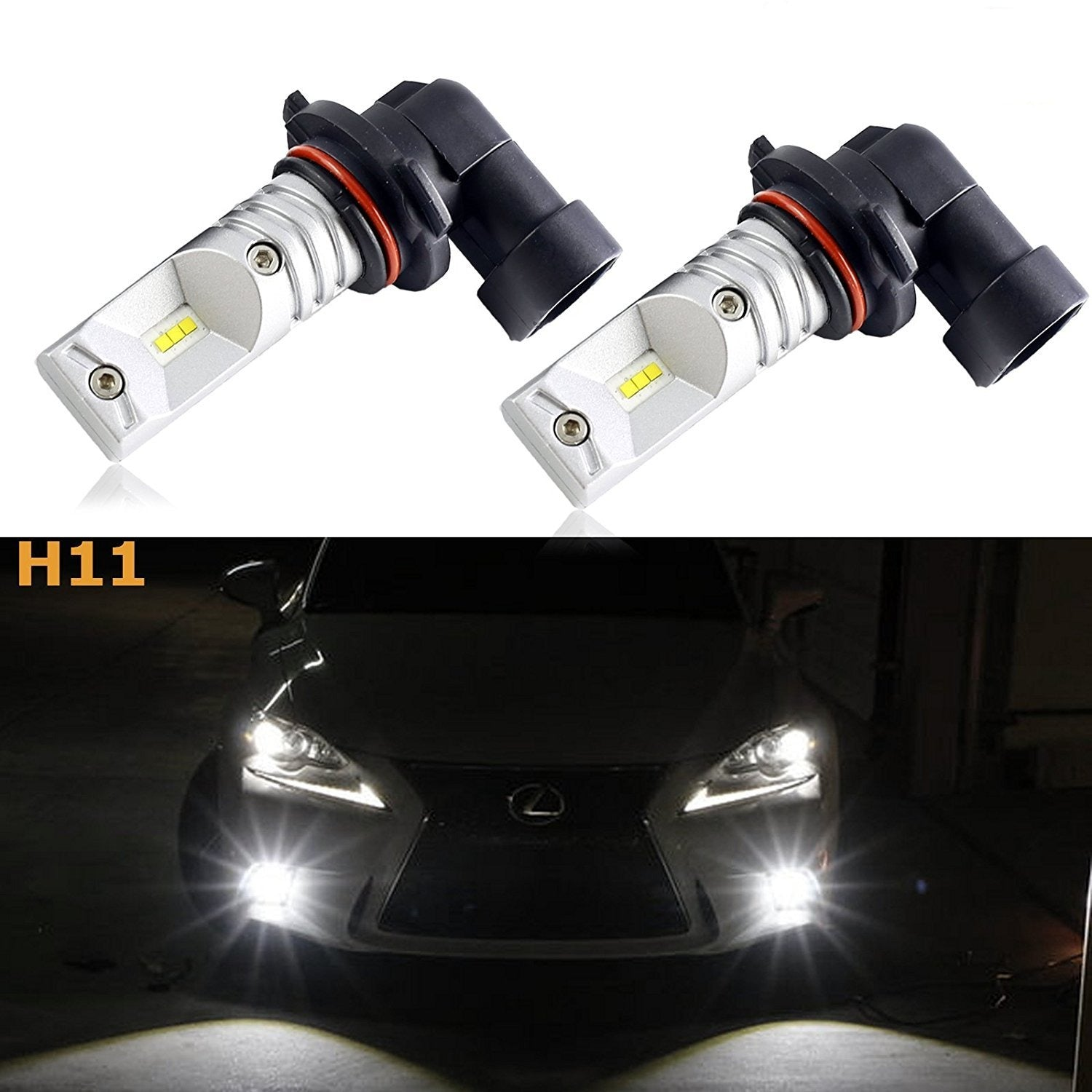 2 H11 H8 H9 Luxeon Led Bright White Led Bulbs For Drl