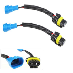 2x 9145 H10 9005 HB3 Extension Wiring Harness Socket Wire Headlight Fog light Daytime Running/High Beam Lights