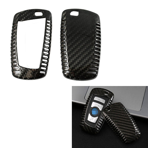 Keyless Smart Key Fob Carbon Fiber Cover for BMW 1 2 3 4 5 6 7 Series X3 X4