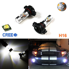 HID 100W CREE 5202 H16 LED Daytime Running DRL Fog Lights Bulbs Lamps For Chevorlet GMC Dodge Chrysler Jeep