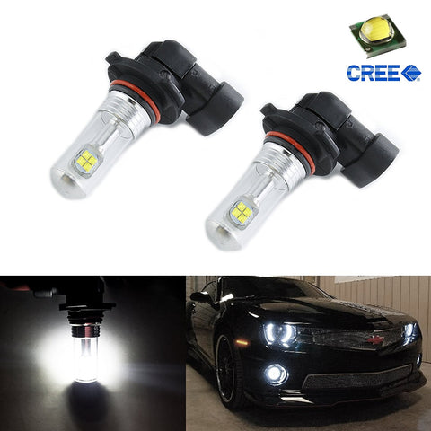 2x HID White 80W CREE 9006 HB4 LED Daytime Running DRL Fog Lights Bulbs Lamps Replacement For Infiniti Kia Subaru Toyota Volkswagen Hyundai Lexus Mazda BMW Mercedes-Benz