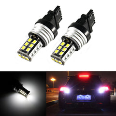2x 7440 7443 10W 15-SMD Bright White LED Bulbs For Backup Reverse,Turn signal,Tail lights