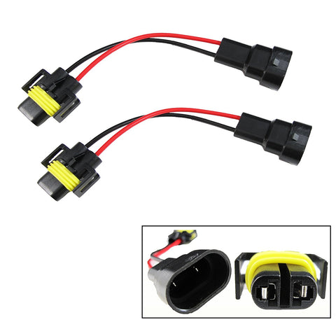2x 9006 to H11 Headlights / Fog Conversion Connectors Wiring Harness Adapter
