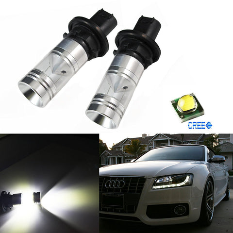 2x White Error Free PH24WY LED Bulbs For Audi Cadillac etc Front Turn Signal Lights