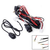 Universal Relay Harness Wire + ON / OFF Switch Cable Kit for LED Light Bar Fog Light HID Work Lamp - 12V 40AMP