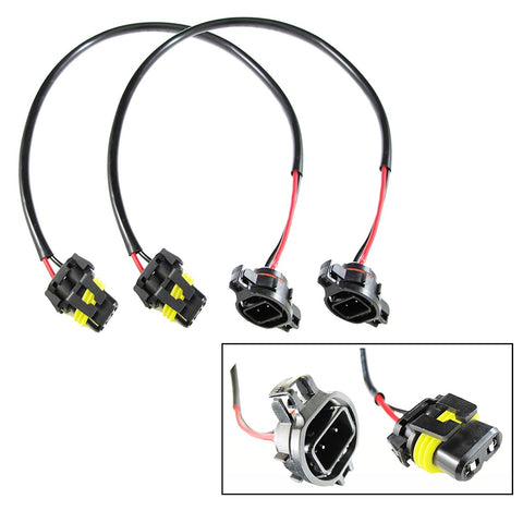 5202 H16 Wire Harness for HID Ballast to Stock Socket for HID Conversion